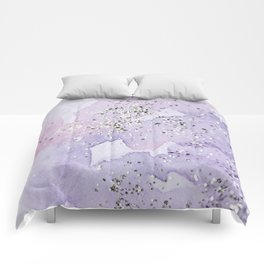 Pastel Glitter Watercolor Painting Comforters