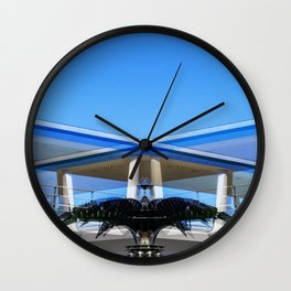 Metallic Palm Wall Clock