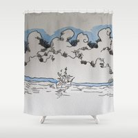 sail Shower Curtains featuring Sail by Bryan McKinney