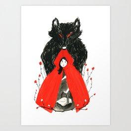 Who's Afraid of the Big Bad Wolf? Art Print
