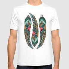 Peacock  Mens Fitted Tee White MEDIUM