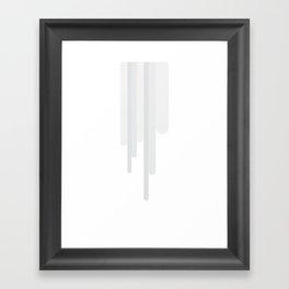 White Trickle Framed Art Print