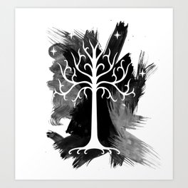 The White Tree of Gondorr Art Print