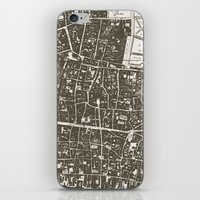 london map iPhone & iPod Skins featuring London Map by Zeke Tucker