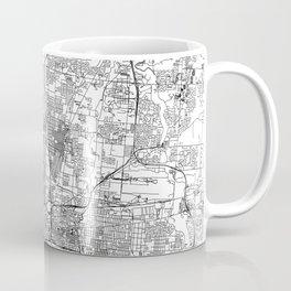 Columbus White Map Coffee Mug