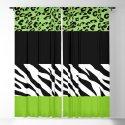 Animal Print, Zebra Stripes, Leopard Spots - Green by sitnica