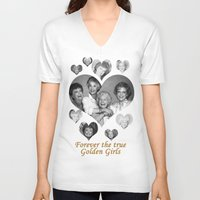 golden girls V-neck T-shirts featuring The Golden Girls by BeeJL