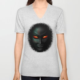 Zombie Ghost Halloween Face Unisex V-Neck