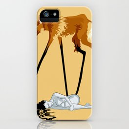 Fox & Girl iPhone Case
