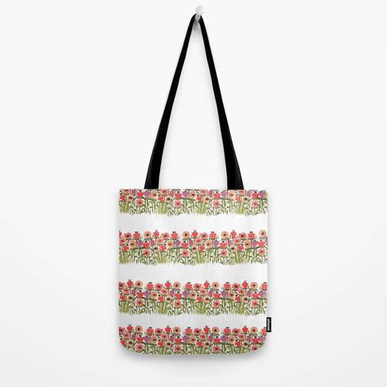 Flower stripe garden Tote Bag