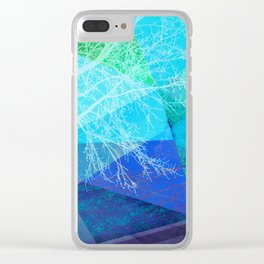 P19-C2 TREES AND TRIANGLES Clear iPhone Case