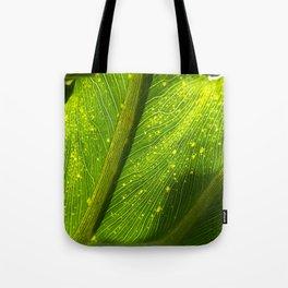 Spotted Leaf Tote Bag