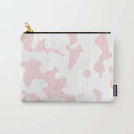 Large Spots - White and Light Pink Carry-All Pouch