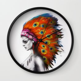 Peafowl Wall Clock