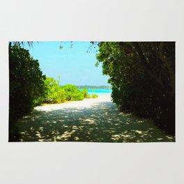 Maldives -  Beach Path Rug
