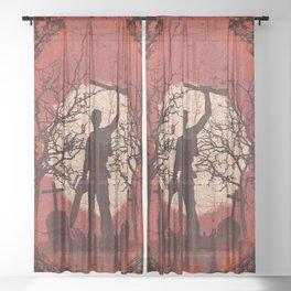 Ash Graves Sheer Curtain