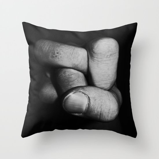 Tangled fist Throw Pillow