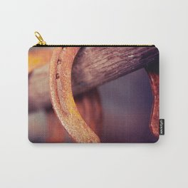 Horseshoes on Barn Wood Cowboy Country Western Carry-All Pouch