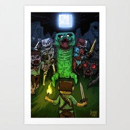 """Bring on the Night"" Minecraft Illustration Art Print"