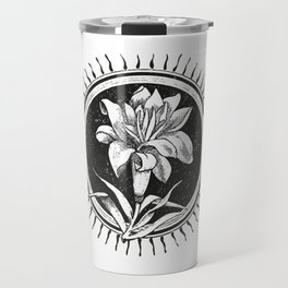 White flower Flor blanca Travel Mug