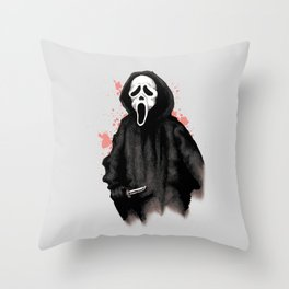 Ghost Face Throw Pillow
