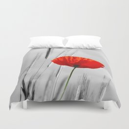 Poppy Red 070 Duvet Cover