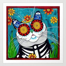 Stormy the Cat Art Print