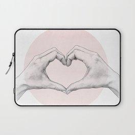 heart in hands // hand study Laptop Sleeve