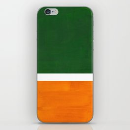 Forest Green Yellow Ochre Mid Century Modern Abstract Minimalist Rothko Color Field Squares iPhone Skin