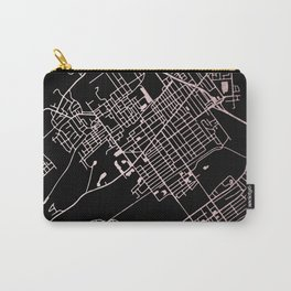 Wilkes-Barre Rose Gold and White Map Carry-All Pouch