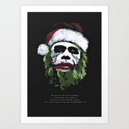 Be good. I will visit you on Christmas Eve ! Art Print