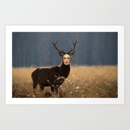 deer healed Art Print