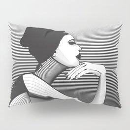 Black and White Female Pillow Sham