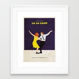 La La Land Alternative Minimalist Film Poster Framed Art Print