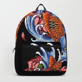 Koi Carp Fish Motif Lovers Gift Design Backpack