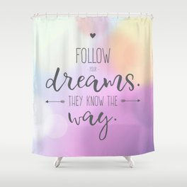 Quote Art #5 Shower Curtain