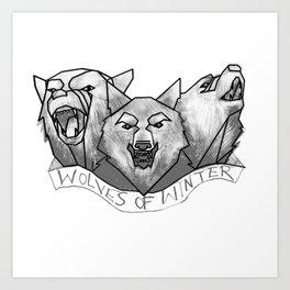 Wolves of Winter Art Print