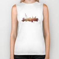 new york skyline Biker Tanks featuring New York City - skyline by jbjart