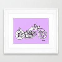 motorbike Framed Art Prints featuring Motorbike by jalise suzzanne