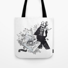 GOD IS A DJ Tote Bag
