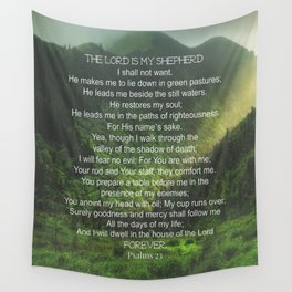 Psalms 23 Lords Prayer Wall Tapestry