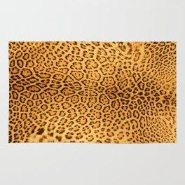 Brown Beige Leopard Animal Print Rug