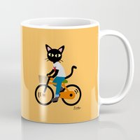 cycling Mugs featuring Summer cycling by BATKEI
