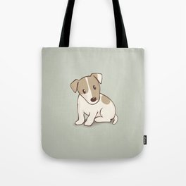 Jack Russell Terrier Dog Illustration Tote Bag