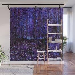 Van Gogh Trees & Underwood Purple Blue Wall Mural