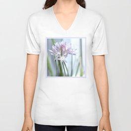 Flower | Flowers | Purple Chive | Kitchen Garden | Nadia Bonello Unisex V-Neck