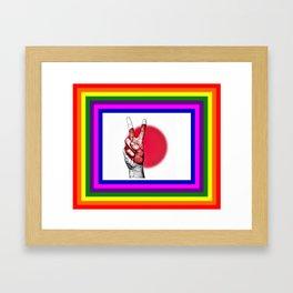 Japan World Peace Flag Framed Art Print