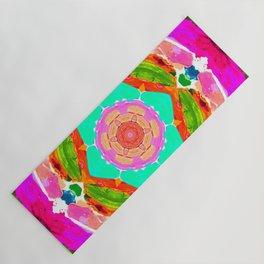 my rainbow heart mandala Yoga Mat