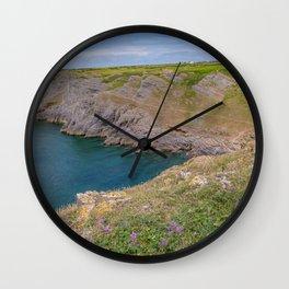 Mewslade Bay, Welsh coast Wall Clock
