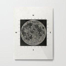Moon Scale Metal Print